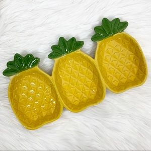 Pineapple Dish Jewelry Trinket Serving Tray Decor